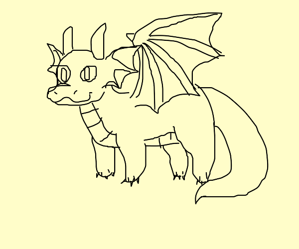 A cute chubby dragon