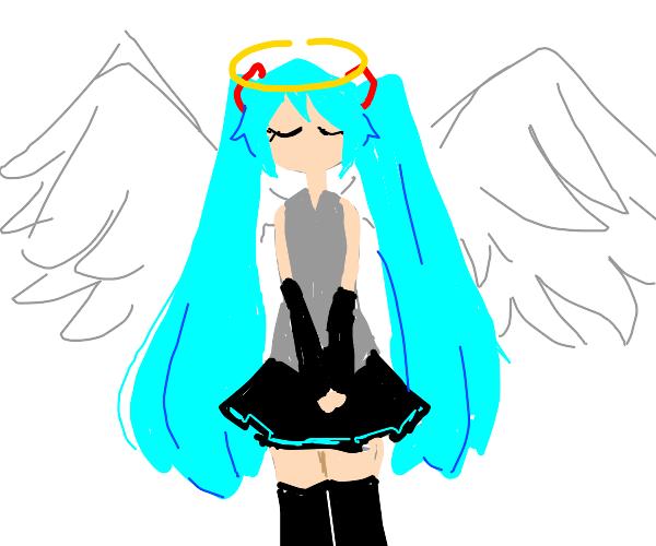 hatsune miku angel