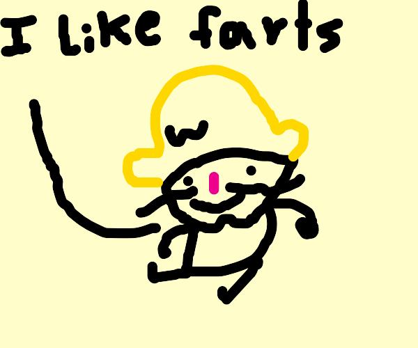 Wario has a fart fetish