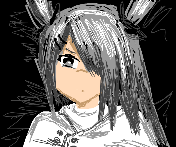 Silver Hair Anime Girl Tsudere
