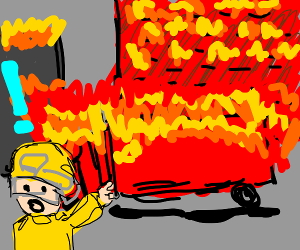 Oh no, the fire truck is on fire! What now?!