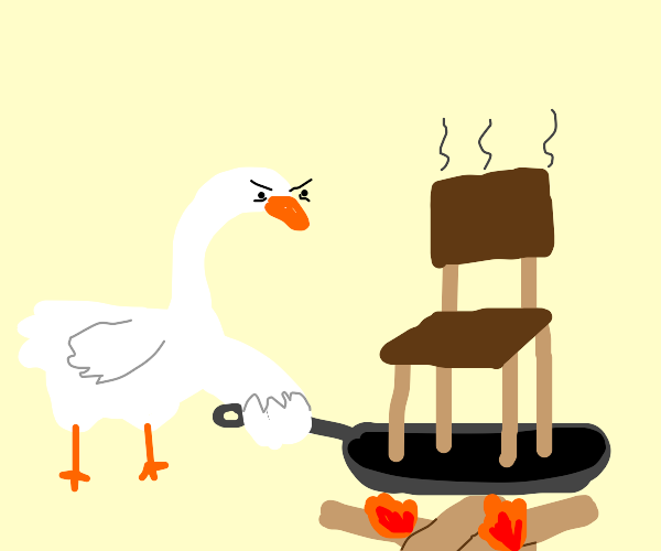 angry goose cooking chair