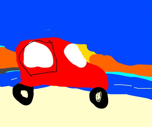 Vehicle On The Beach