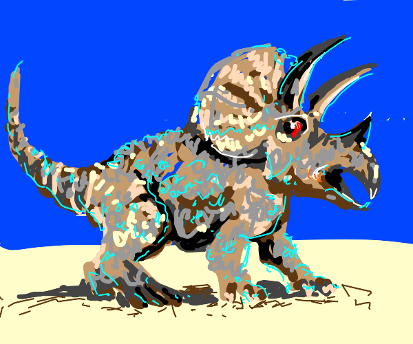 Woolly triceratops