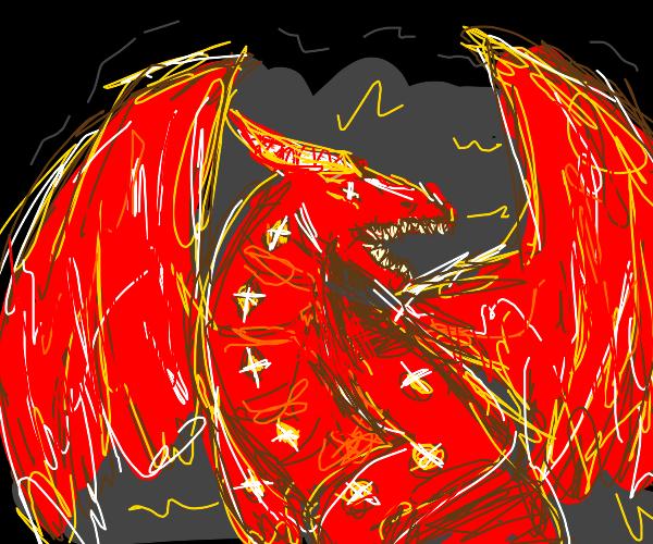 dark red crystal dragon