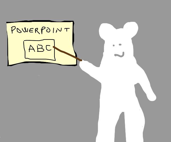 Polar Bear giving a Presentation