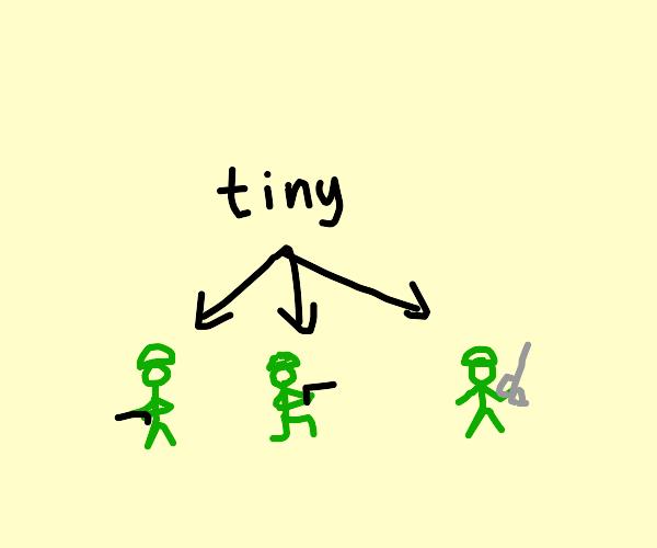 mini plastic army man