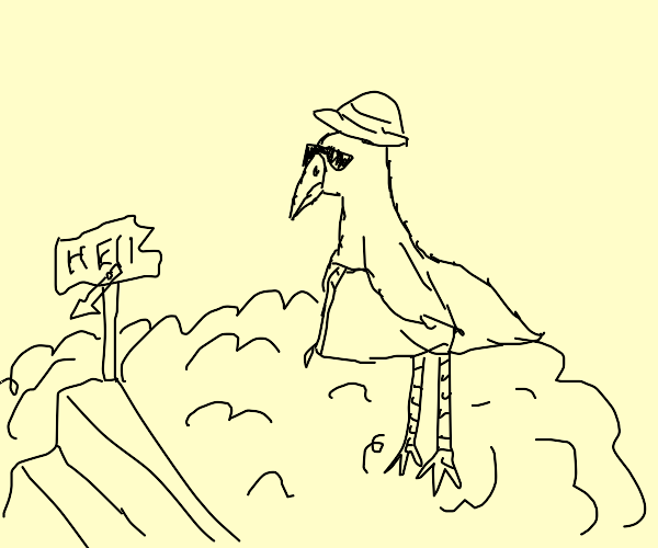 bird on vacation to he l l