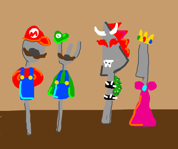mario but with silverware