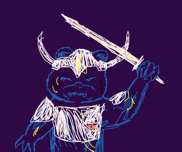 Teddy warrior