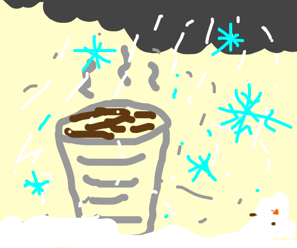Cup in a Blizzard