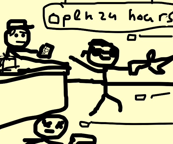 Cashier in the Matrix