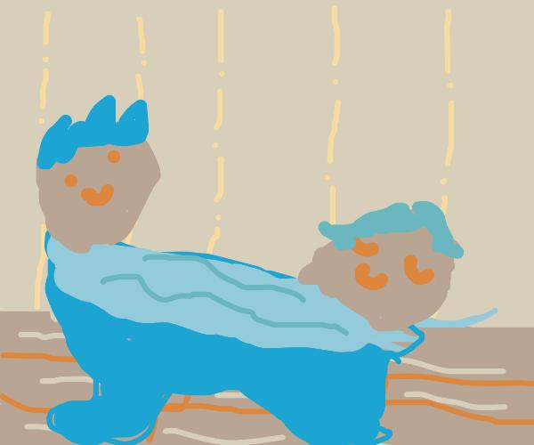 2 bros chillin in a hot tub, 2 feet apart