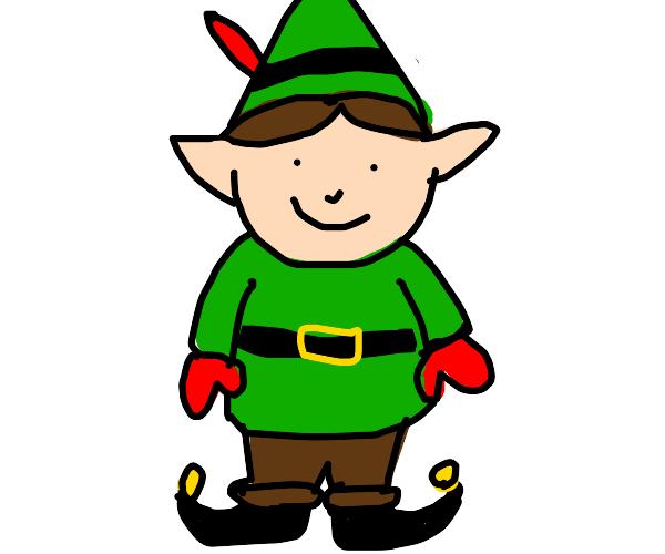 a Christmas elf boy