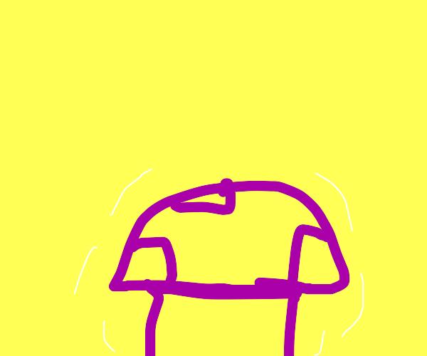 A Glowing purple mushroom