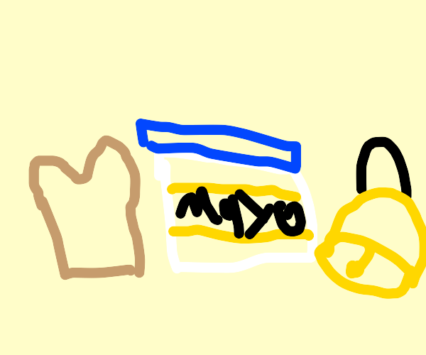 Toast, mayonnaise, and a bell.