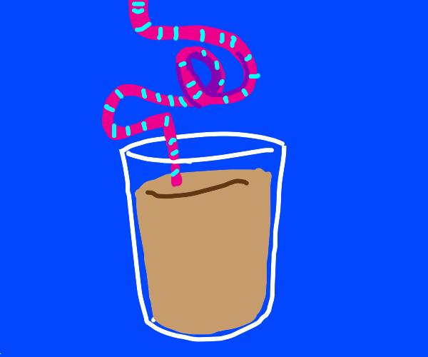Choccy milk with a crazy straw
