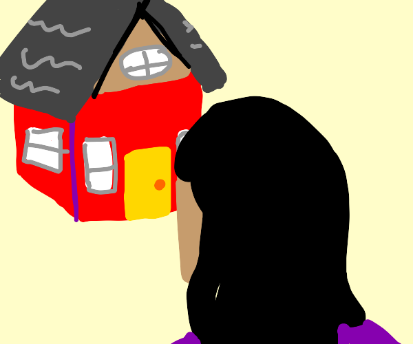 Looking at a house