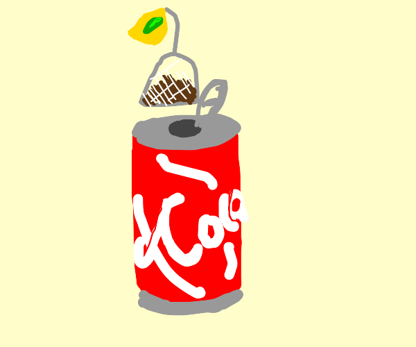 Tea bag into coke
