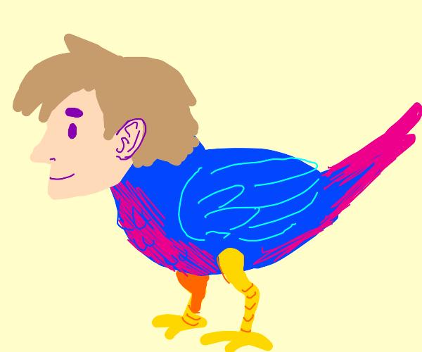 bird with man head. ban? mird?