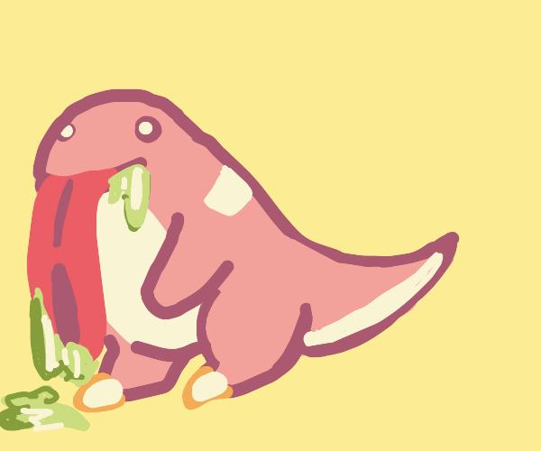 Lickytongue (Pokémon) drooling