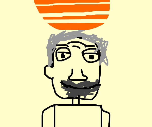 old man in sunset