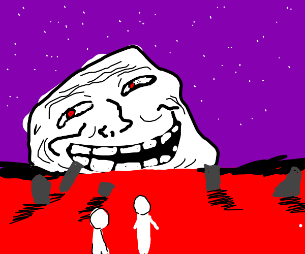 the trollface emerges