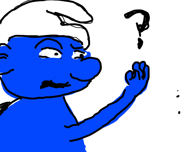 A confused smurf