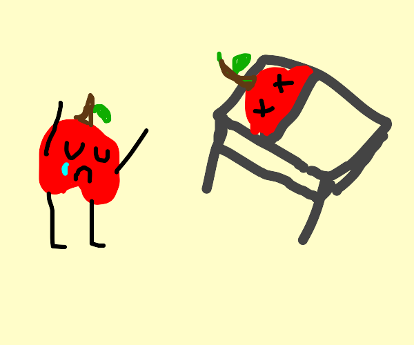 an apple's funeral