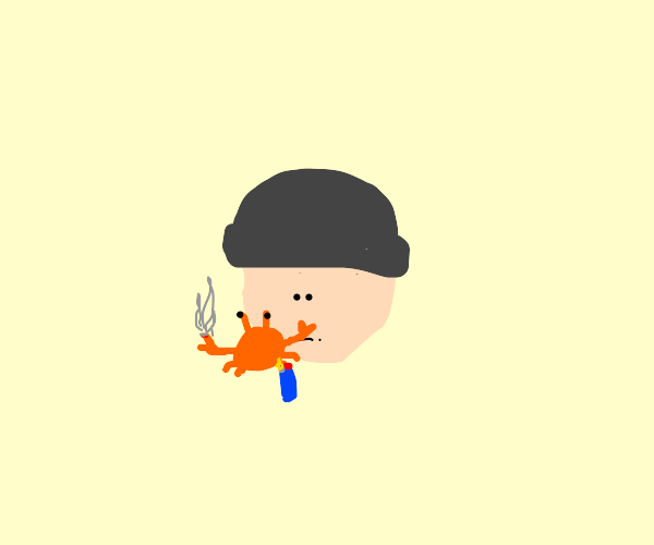 smoking crab
