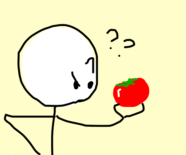 Boy doesn't know what a tomato is
