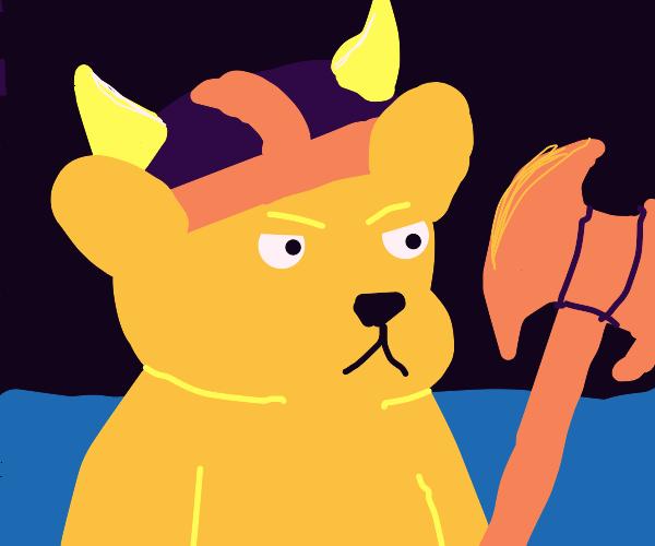Anthro Viking teddy bear