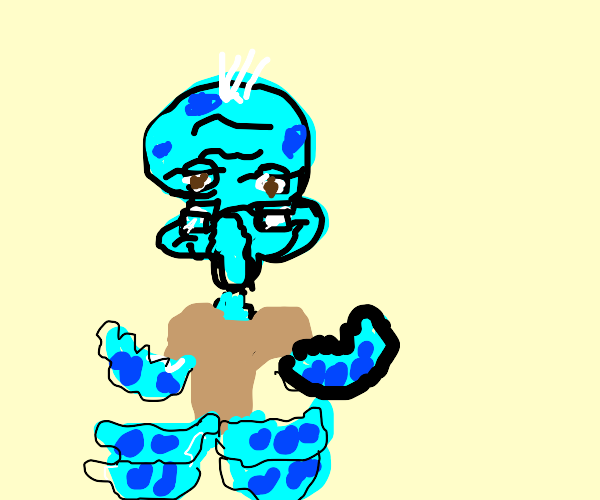 Squidward but he's old