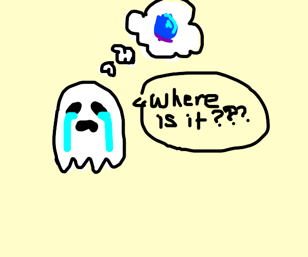 Ghost looking for a Blueberry