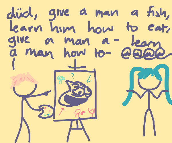 Hatsune Miku doesn't know what's going on