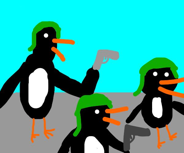 Militarized penguin battalion