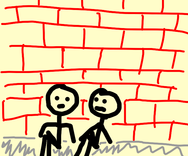 2 people sitting close together on a wall