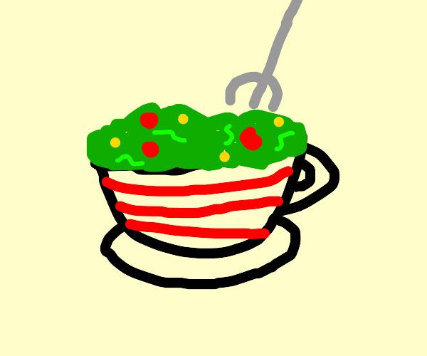 Salad in a Teacup