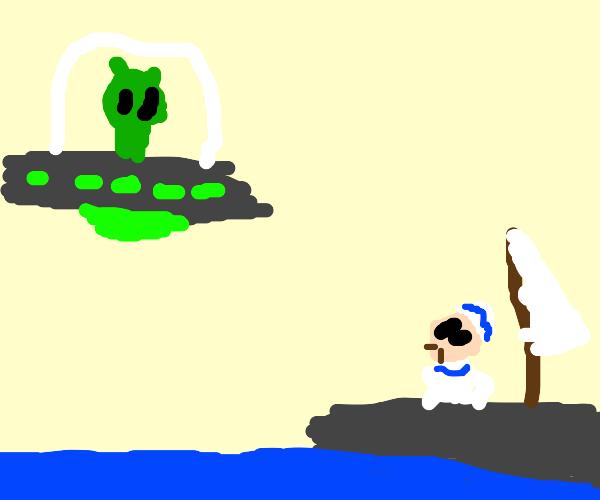 alein visits sailor
