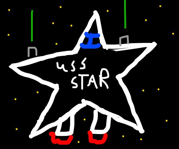 Space ship shaped like a star (U.S.S. Star)