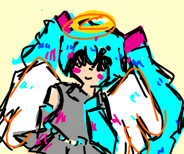 Hatsune Miku as an angel