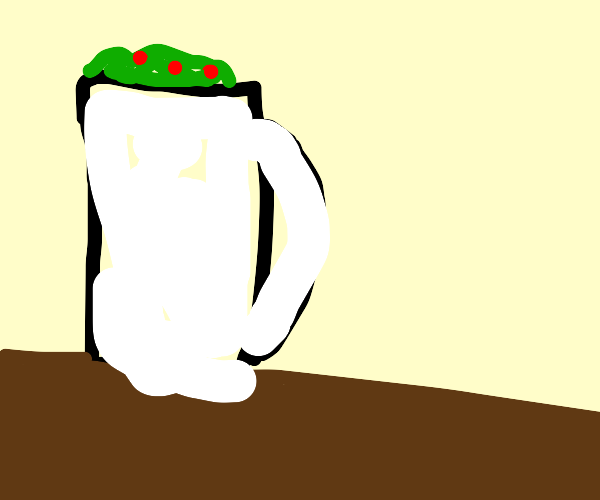 Salad in a mug