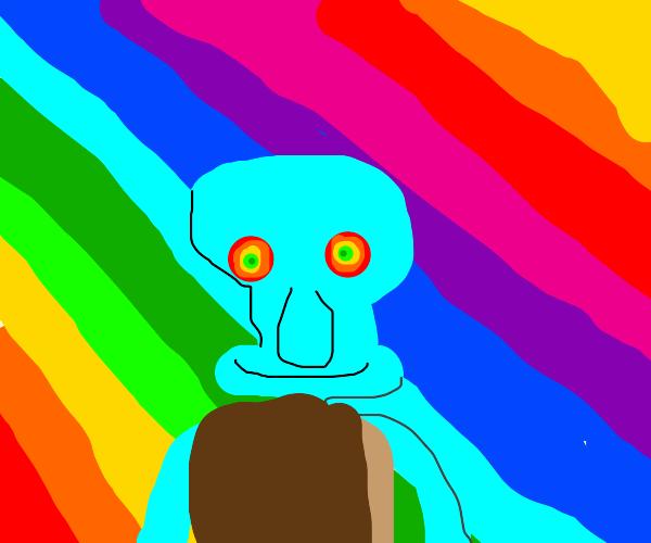 Squidward on a Drug Trip