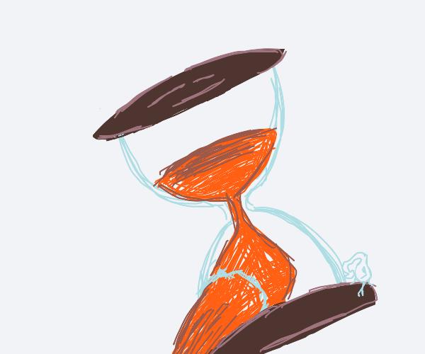 Hourglass leaking