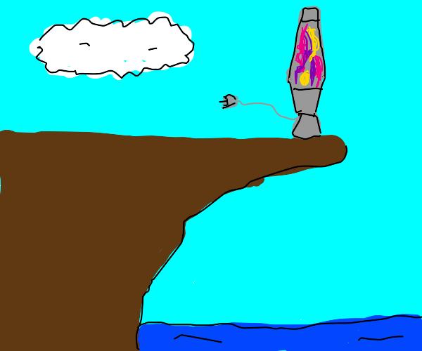 Lava lamp on the edge