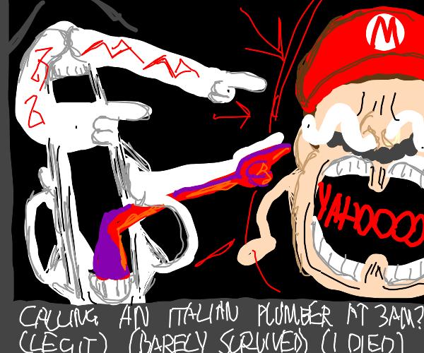 Clickbait horror mario thumbnail
