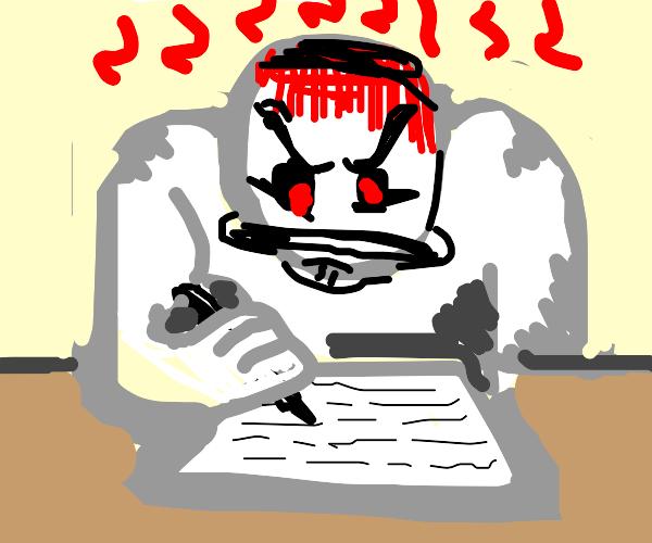 Angry Writer