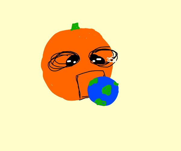 space orange eating planet