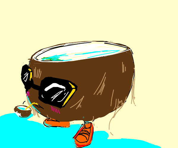 Coconut wearing Shoes