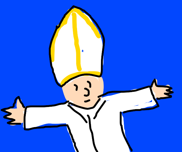 T posing pope